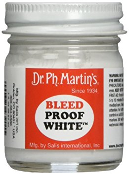 Dr.Ph. Martin's, Bleed Proof White, bílá tuš, 30ml