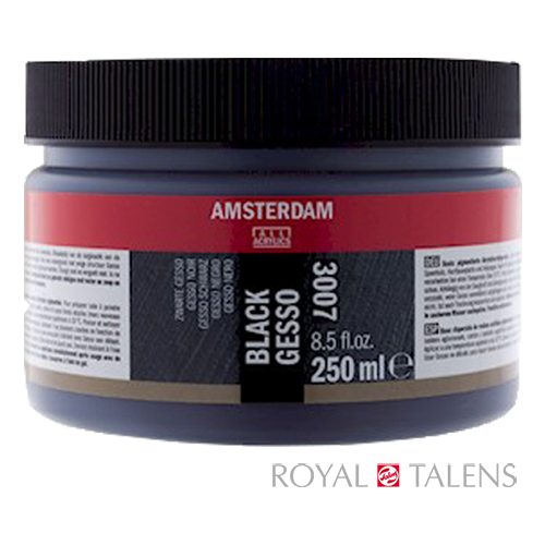 Royal Talens, Amsterdam BLACK GESSO, černý šeps, 500ml