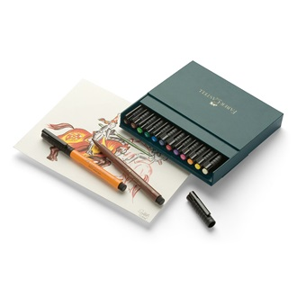 Faber-Castell popisovač PITT Artist Pen Brush , Studio Box 12ks 167146