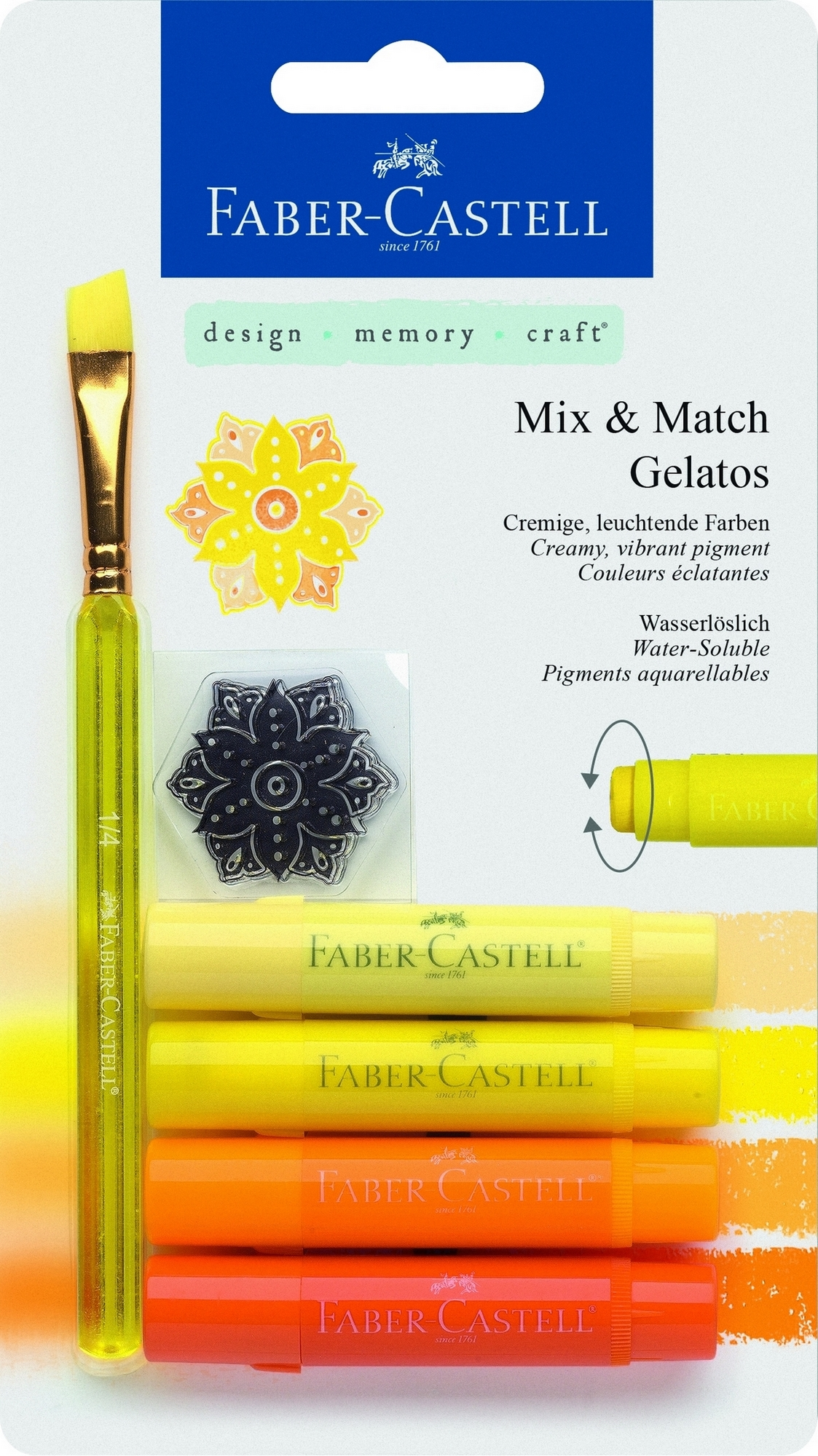 Faber-Castell Gelatos MIX&MATCH 4 ks, žlutá