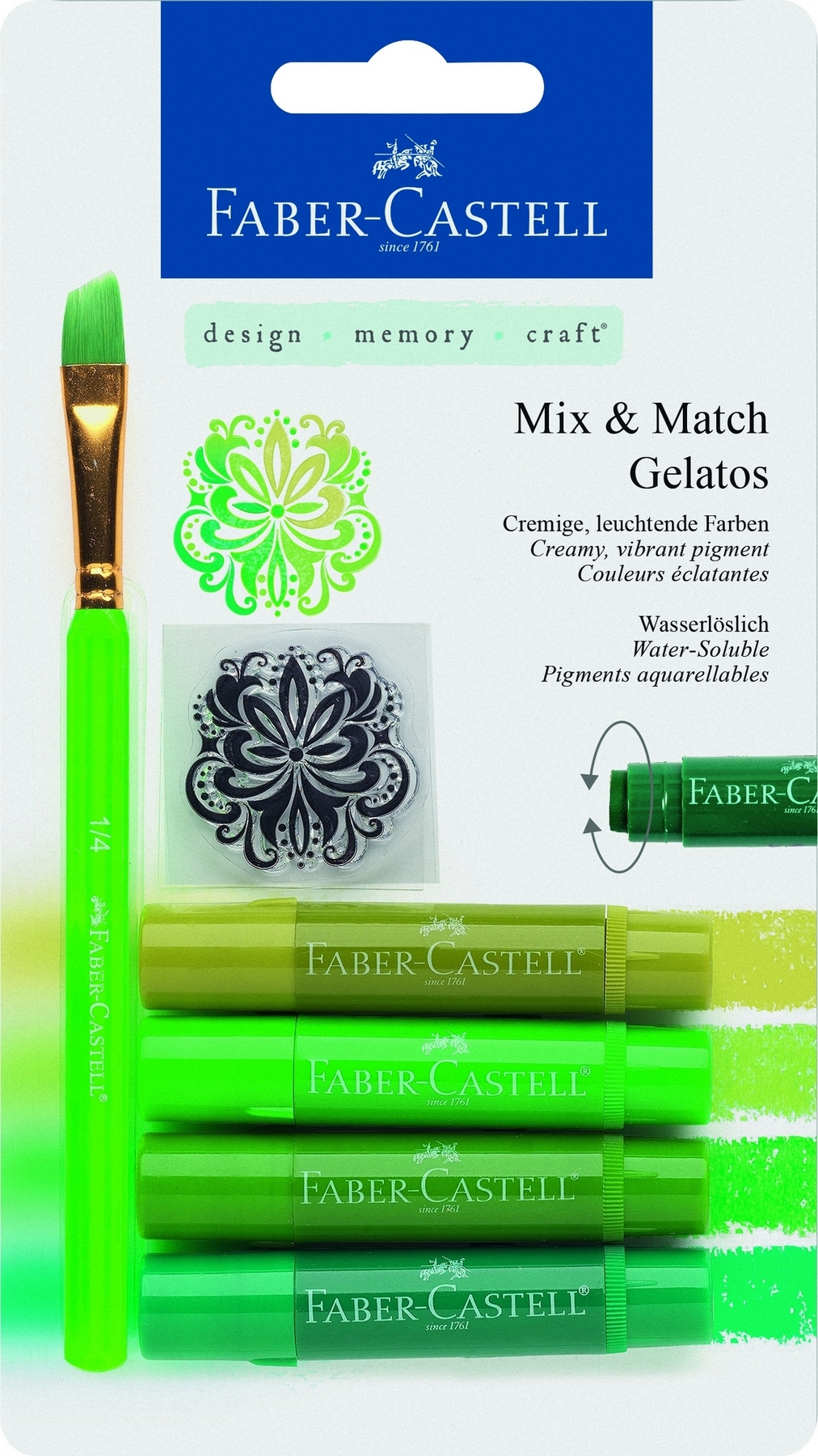 Faber-Castell Gelatos MIX&MATCH 4 ks, zelená