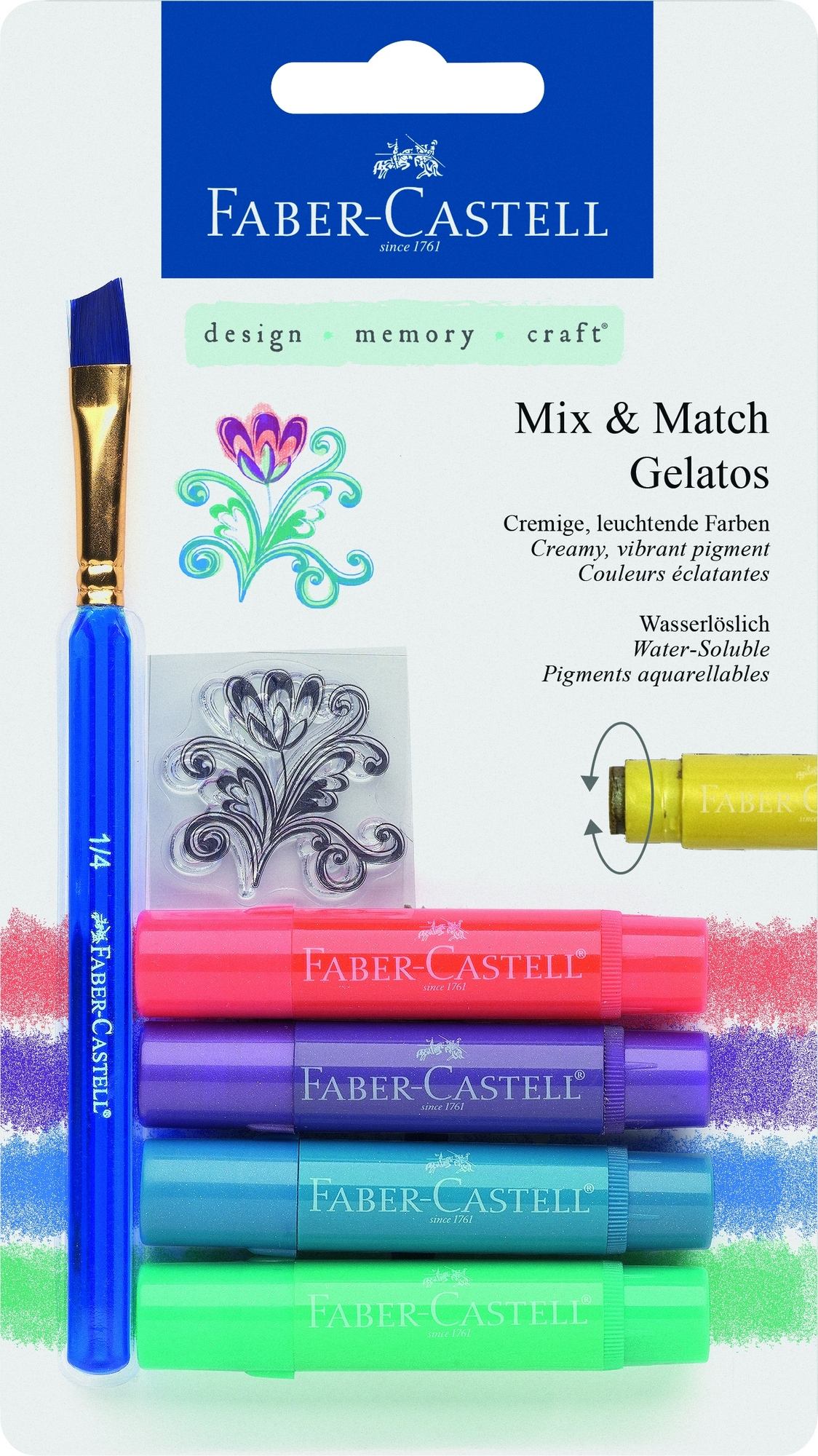 Faber-Castell Gelatos MIX&MATCH 4 ks, metalic