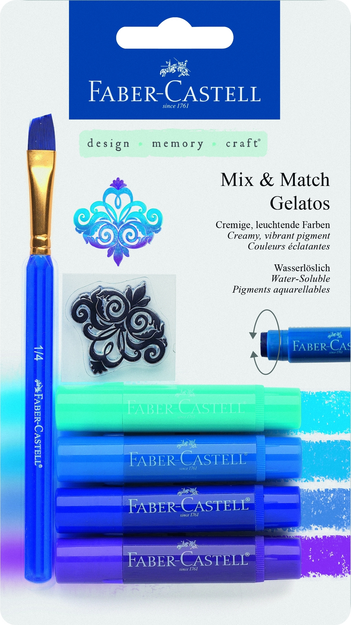 Faber-Castell Gelatos MIX&MATCH 4 ks, modrá