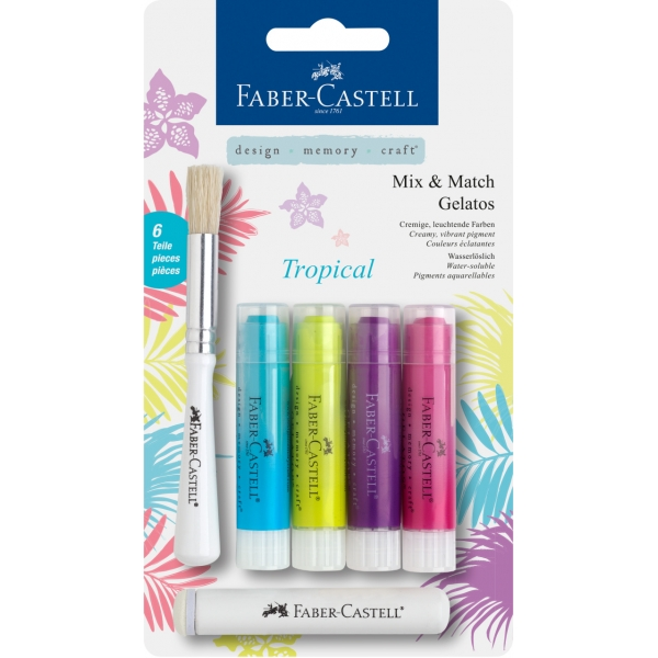 Faber-Castell Gelatos MIX&MATCH 4 ks, tropical