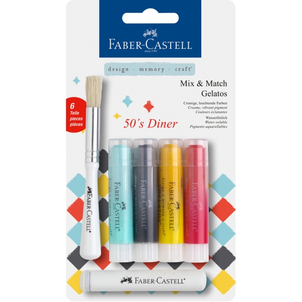 Faber-Castell Gelatos MIX&MATCH 4 ks, 50´s diner