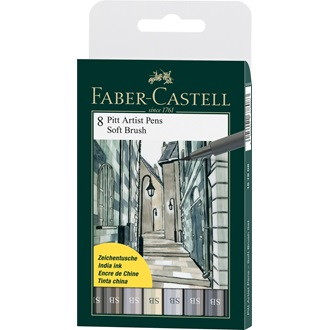 Faber-Castell PITT ARTIST PEN SOFT BRUSH 8ks, 167808
