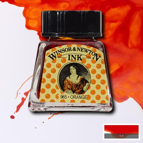 Winsor&Newton, šelaková tuš Orange, 14ml