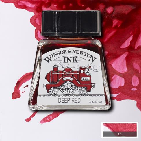 Winsor&Newton, šelaková tuš Deep red, 14ml