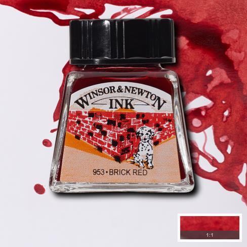 Winsor&Newton, šelaková tuš Brick red, 14ml
