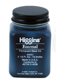 Eternal Higgins, black Ink, černý inkoust, 74ml